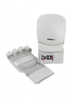 guantes para Jiu Jitsu de cuero de color blanco
