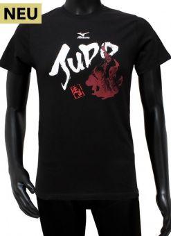 camiseta mizuno judo negra para hombre
