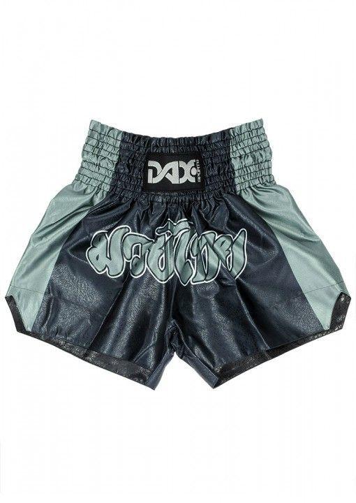 Pantalones cortos Muay Thai Dax - color negro/gris