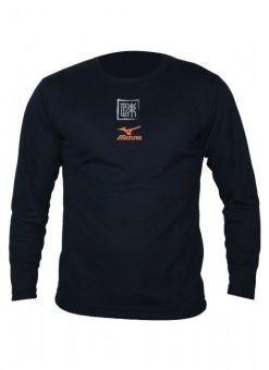 camiseta de manga larga de mizuno de color azul
