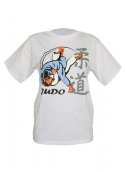 camiseta de judo blanca DAX uchimata 3d para hombre