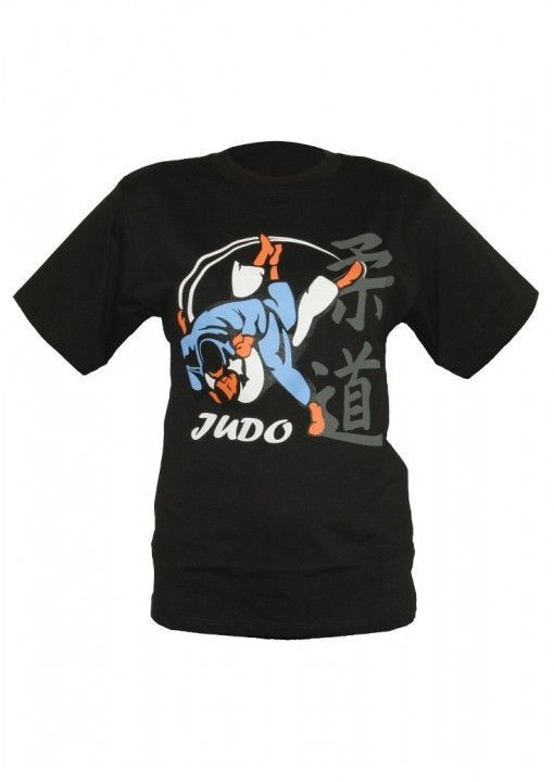 camiseta de judo negra DAX uchimata 3d para hombres