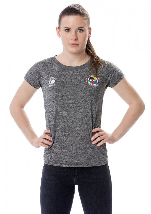 T-shirt gris wkf de l'équipe féminine de tokaido