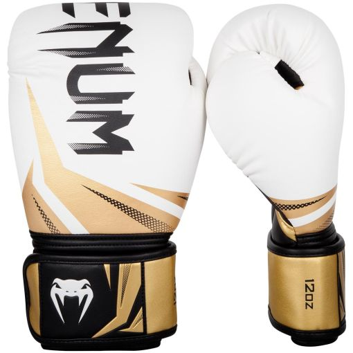 Guantes de boxeo Venum Challenger 3.0 blanco-negro-oro