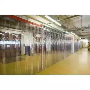 rideau plastique industriel transparent