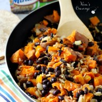Sweet Potato and Black Bean Vegan Burritos