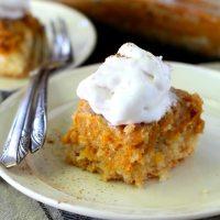 Grandma's Pumpkin Pie Dessert Squares (made healthier)