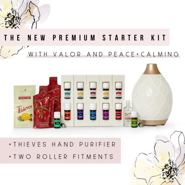Essential Oils starter kit with diffuser