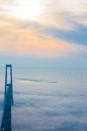 just the bridge and the top of the wind mills