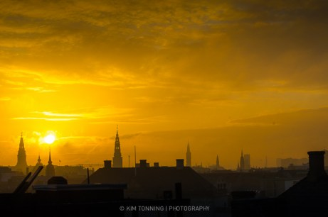 Copenhagen skyline - sunset