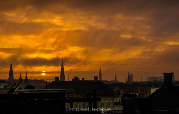 Copenhagen skyline - sunset
