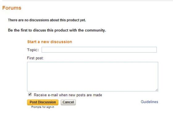 Amazon discussion