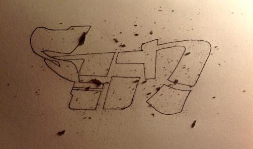 syn drawing with shavings