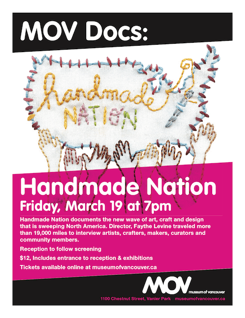 Handmade Nation at the Museum of Vancouver