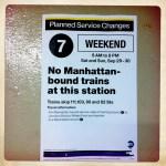 Subway notice