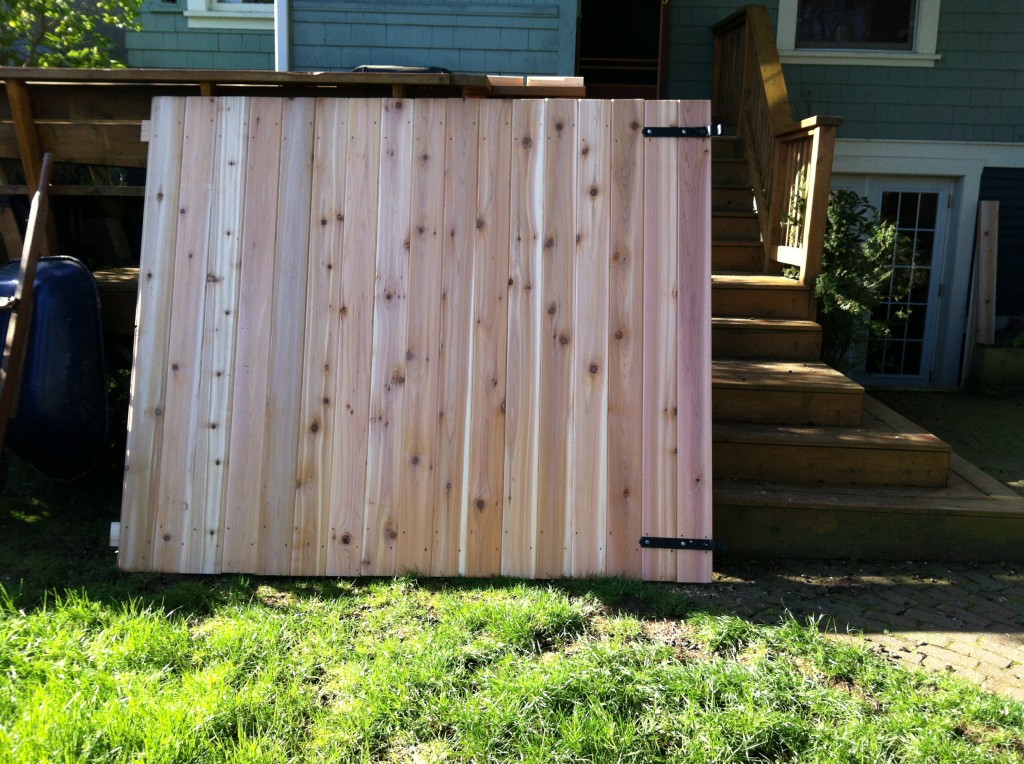 This is the gate that Greg built.