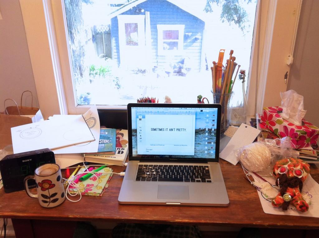 photo of my messy desk