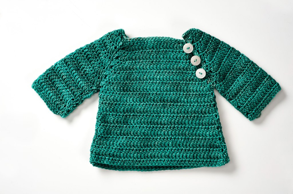 image of crochet baby sweater