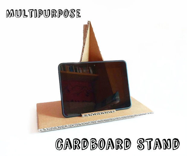 image of multipurpose cardboard stand