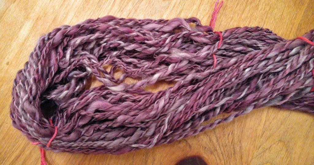 Handspun yarn for Spinzilla 2015