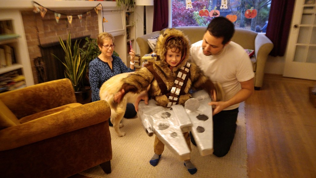 DIY Chewbacca Millennium Falcon costume