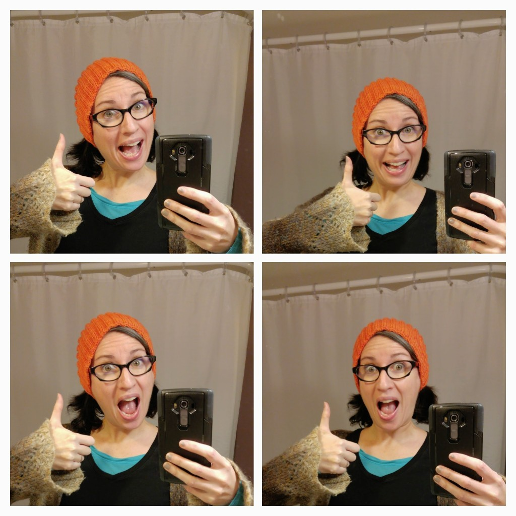 Finished Calorimetry, pattern from Knitty.com. (Selfies are hard, you guys!)