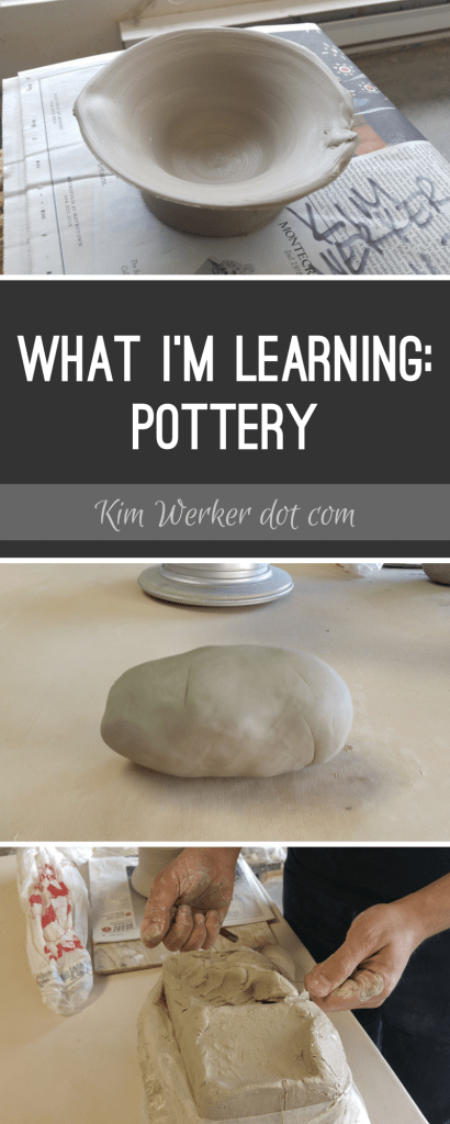 What I'm learning: Pottery! The highs and lows, over at http://kimwerker.com/blog