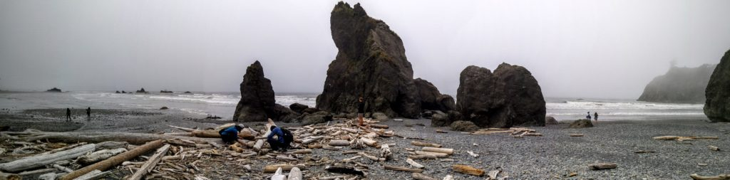 Ruby Beach, Washington, panorama