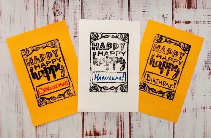 Carve a card stamp for all occasions! http://kimwerker.com/blog