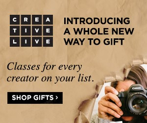 Get great deals on classes at CreativeLive this holiday season!