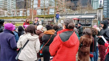 Service before the #womensmarch in Vancouver, BC, Canada – https://www.kimwerker.com/blog