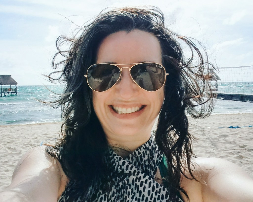Beach hair in Mexico.
