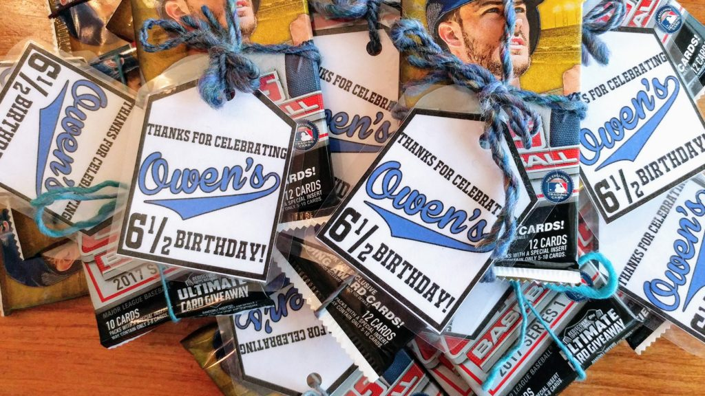 Baseball birthday party gift tags! – http://www.kimwerker.com/blog