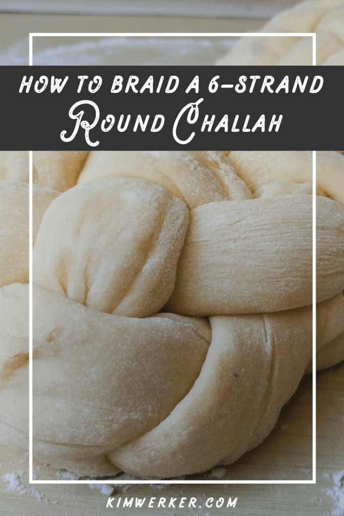 How to braid a round challah – http://www.kimwerker.com/blog