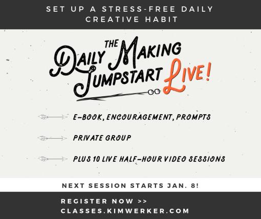 Online Workshop – Daily Making Jumpstart LIVE