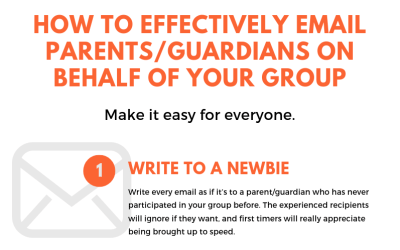 How to Effectively Email Parents on Behalf of Your Group