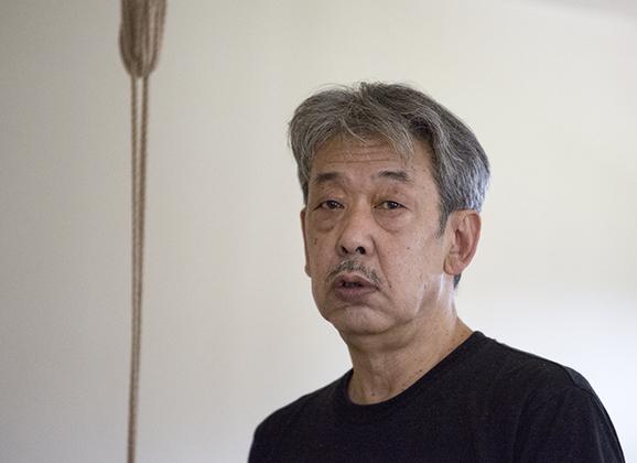 Yukimura Sensei on Suspension Kinbaku Today 1