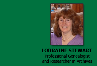 LORRAINE STEWART Professional Genealogist and Researcher in Archives