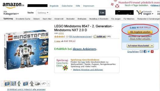 Amazon Top Preis LEGO NXT 2.0