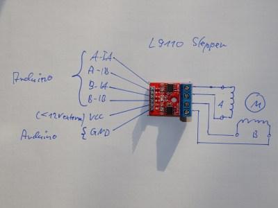 Arduino L9110 Stepper Modul