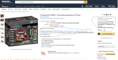 Amazon Fake Angebot