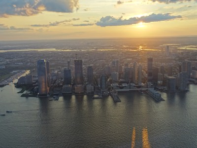 one world trade center view to NJ