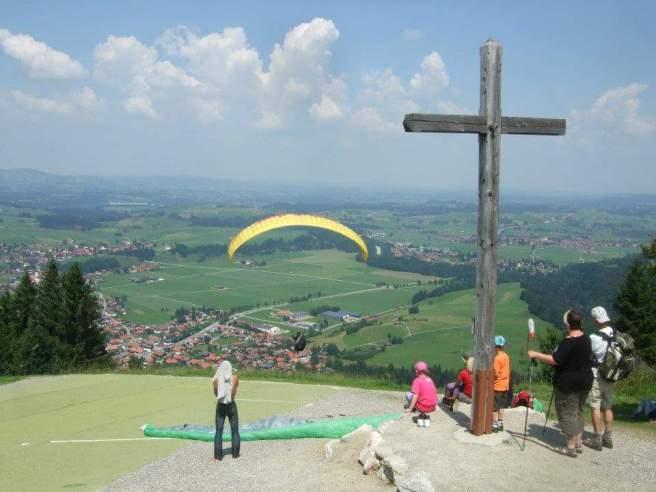 Paraglider am Buchenberg