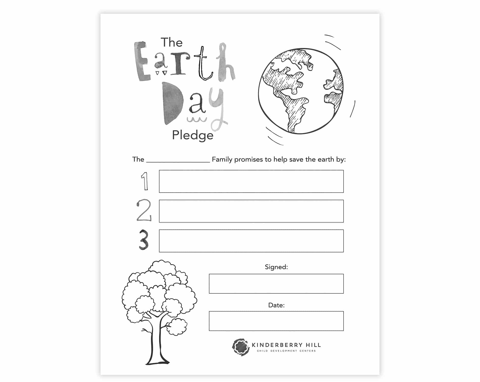 Earth Day Pledge