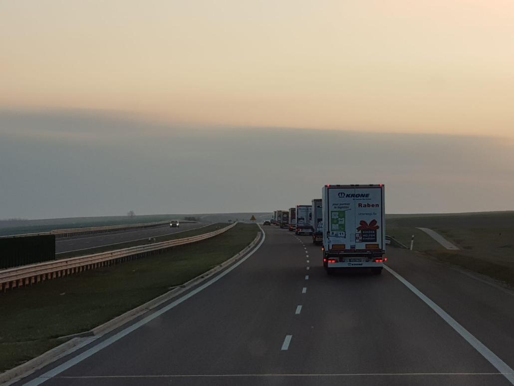 Vrachtwagens onderweg
