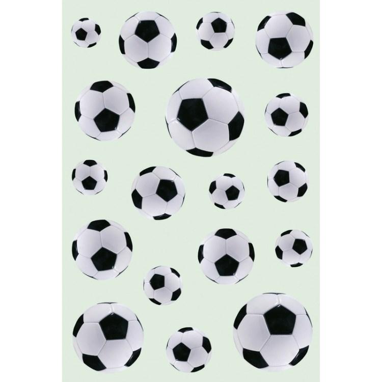 162x Zwart/witte voetballen stickers