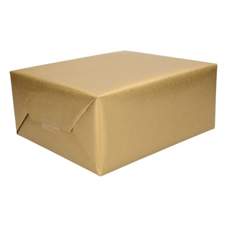 2x Inpakpapier goud 4 meter