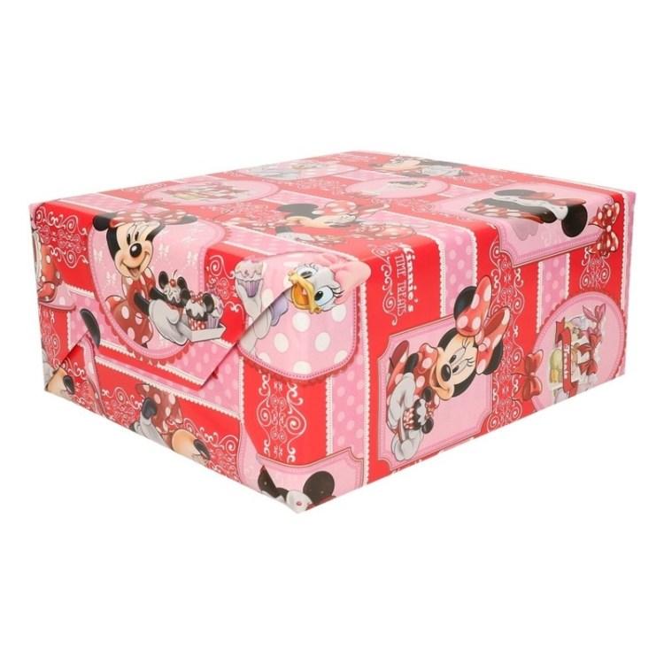Disney kadopapier rol Minnie met cupcake