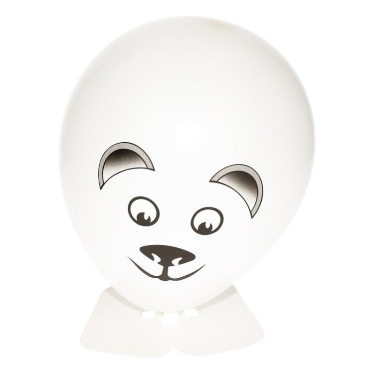 DIY ijsbeer ballon maken 27 cm