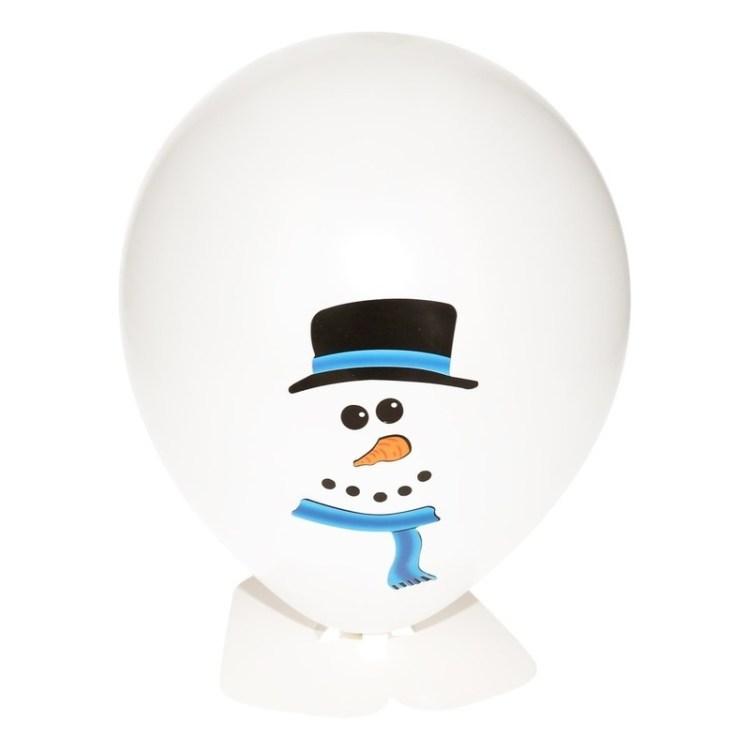 DIY sneeuwpop ballon maken 27 cm